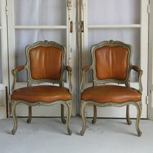 Image of Gorgeous Pair of Louis XV Chairs