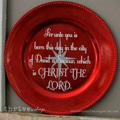 Image of Plate Vinyl - Christmas BIBLE Verse