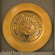 Image of Plate Vinyl - LDS Relief Society Logo