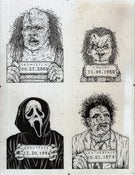 Image of 'Monster MugShots' series two original illustration