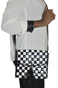 Image of Vintage Patent Black & White Checkered Purse