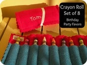 Image of Personalized Crayon Roll - set of 8