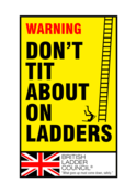 Image of Don't Tit About On Ladders print
