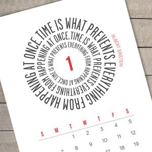 Image of TIME - 2013 Printable Calendar - (red and black) - UK/EU or US DATE FORMAT