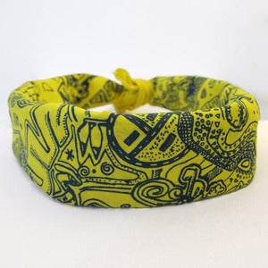 Image of Din Bizaad (Navajo Language) Bandana - Yellows