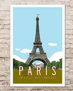 Image of Paris Vintage Travel Poster.