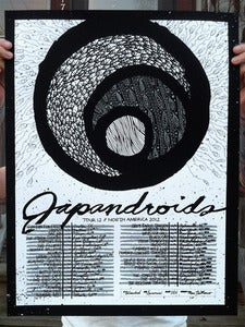 Image of Japandroids (Tour 12) - Screenprinted Poster
