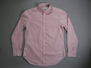 Image of Buckshot Sonny's Red Striped Pinpoint Vacation Shirt