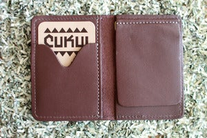 Image of Cukui Leather Wallet in Brown