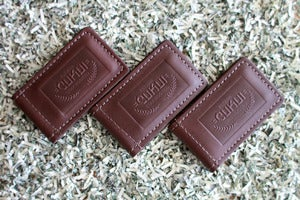 Image of Cukui magnetic leather money clip - Brown