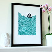 Image of Bigger Boat limited edition print (more colours...) A3