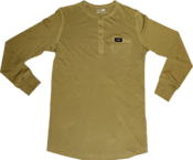 Image of SK8RATS Long Sleeve Pocket Henleys (Fatigue Green)