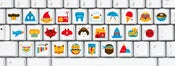 Image of Picture Keyboard Alphabet - Sticker Set