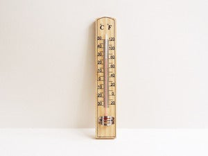Image of Wooden Wall Hanging Thermometer