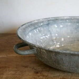 Image of Antique Zinc Farm Bowl