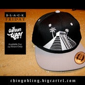 Image of Black/Silver CancunLife Snapback (Available on Black Friday ONLY then its gone)
