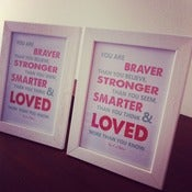 Image of SALE! You are Braver Quote With Frame