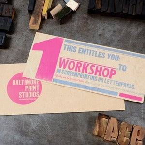 Image of WORKSHOP Gift Certificate