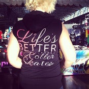 Image of Life's Better on Roller Skates Sleeveless Hoodie