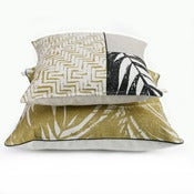 Image of pair of olive sunroom cushions