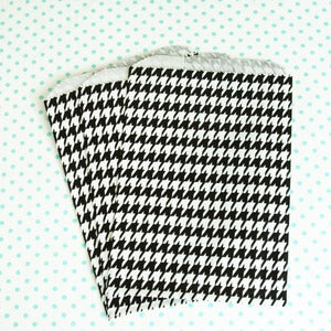 Image of Black Houndstooth Treat Bag
