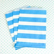 Image of Blue Stripe Treat Bag
