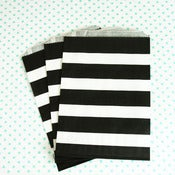 Image of Black Stripe Treat Bag