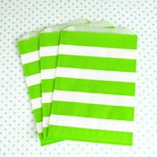 Image of Green Stripe Treat Bag