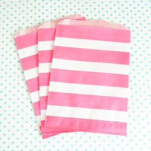 Image of Pink Stripe Treat Bag