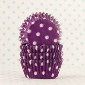 Image of Purple Dot Mini Cupcake Liner