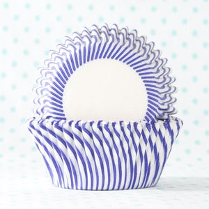 Image of Purple Pin Stripe Cupcake Liner