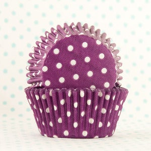 Image of Purple Dot Cupcake Liner