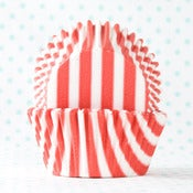 Image of Red Stripe Cupcake Liner