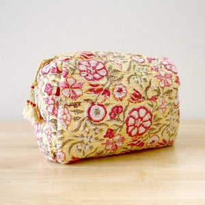 Image of Anokhi Cotton Makeup Cosmetic Bag