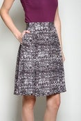 Image of Static Print Pleated Skirt