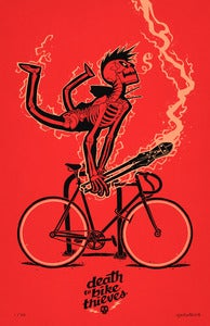 Image of ***NEW!***<BR>DEATH TO BIKE THIEVES PRINT