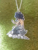 Image of Acrylic Tattoo Style Pin-Up Mermaid Seawitch Necklace Rockabilly Punk Psychobilly Vintage