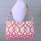 Image of messenger bag - sunset lattice