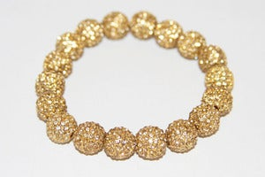 Image of Pave Gold Plated Crystal Stretch Bracelet