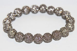Image of Gunmetal Plated Jonquil Crystal Stretch Bracelet