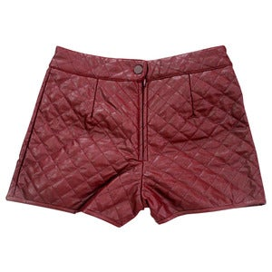 Image of Wren. - Heritage Quilted Shorts in Oxblood