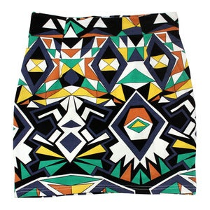 Image of Wren. - Geometric Tailored Bodycon Skirt (Teal)