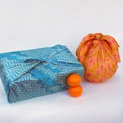 Image of Vintage Sari Silk Furoshiki Gift Wrap Set, 2 medium