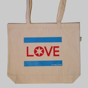 Image of Chicago Love Organic Cotton Tote Bag