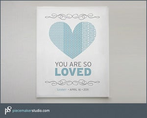 "Image of ""You Are So Loved"" (Heart)"