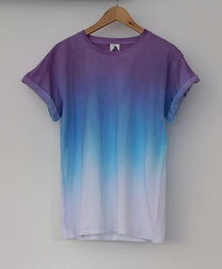 Image of Purple Blue Horizon Dip Dye Tee &lt;em&gt;Coming Soon &lt;/em&gt;