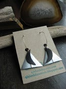 Image of Triangle Moon Earrings - Recycled Bike Tube Earrings