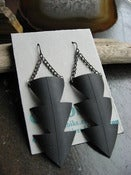 Image of Power of Three - Recycled Bike tube earrings
