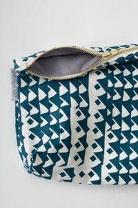 Image of limited edition GREY & AQUA zippered pouch