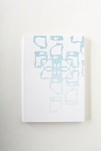 Image of indigo dye letterpress NOTEBOOK -- #3